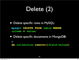 Mysql Delete From Table Getting Started With Mongodb