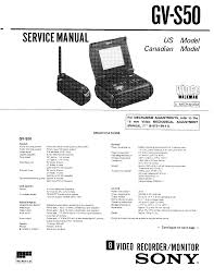 sony gv s50 service manual download schematics eeprom repair