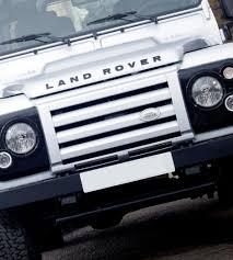 lexus v8 in defender genuine land rover defender svx front grille in zermatt silver
