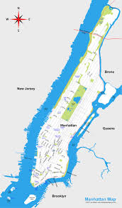 manhattan on map map of manhattan new york city map city sightseeing tours