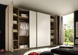 Schlafzimmerschrank Mit Aufbauservice Stella Trading Match 4 Türiger Kleiderschrank Holz San Remo Weiß