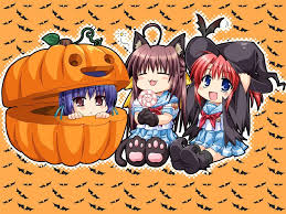halloween kids cartoons my free wallpapers cartoons wallpaper chibi halloween