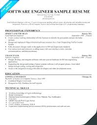resume exles for software engineers resume for google software engineer resume software engineer