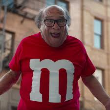 danny devito watch the m ms super bowl commercial with danny devito eater