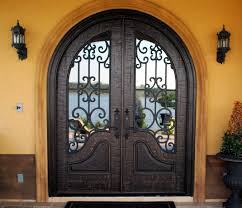 Entrance Doors by Double Front Entry Doors Almaria Panel Design True Radius Top