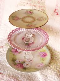 shabby chic style pink dessert tier plate 20 00 via etsy can