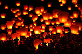 firework lantern lantern festival illuminates the sky all spark fireworks
