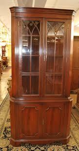 how to clean corners of cabinet doors mahogany corner cupboard w individual glazed glass