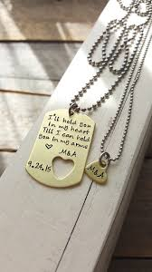 custom dog tag necklace custom dog tag and necklace brass tag by cmkreations