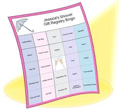 registry bridal shower custom shower bingo maker bridal shower bingo baby bingo