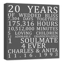 20th anniversary gift for anniversary gifts for 20th anniversary 20 year anniversary gift