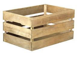 quickway imports stackable antique style wooden crate decorative