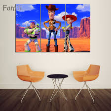 hd printed comic toy story canvas painting wall home decor for