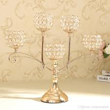 home decor crystal candle holder event party supplies centerpieces