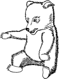 brown bear cub coloring free printable coloring pages