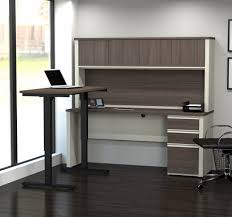 l shaped standing desk standing hutch desks you ll love wayfair l shaped standing desk