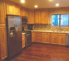 Kitchen Cabinet Set Furniture Rustic Holic Accent Kitchen With Knotty Wood Cabinet