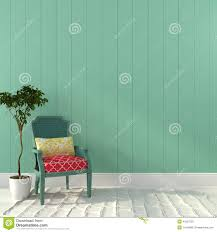 Turquoise Chair Vintage Turquoise Chair With Colorful Decor Stock Photo Image