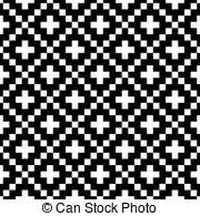 eps vector of nordic pattern on black collection of
