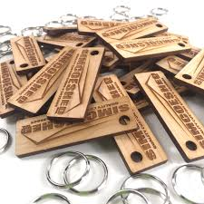personalized wood keychains wooden rectangle custom key ring