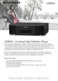 download free pdf for marantz ud8004 dvd players manual