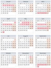 Kalender 2018 Helgdagar Röda Dagar 2018 Alla Lediga Dagar 2018