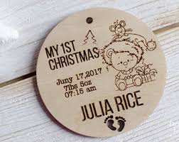 Baby S First Christmas Tree Decoration Personalised by Baby First Christmas Etsy