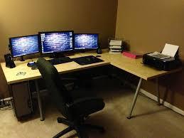 tips computer desk for 3 monitors wooden gaming desk gaming