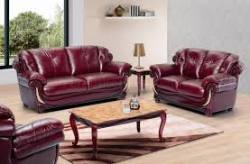 stylish living room burgundy leather stylish living room w cherry wooden trims