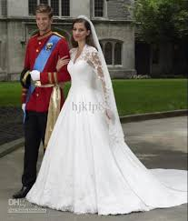 dh wedding dresses sleeve satin and lace gown with v neck