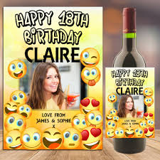 wine emoji personalised emoji happy birthday wine champagne bottle photo