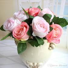 Cheap Flowers For Wedding Bride Bouquet Silk Flowers Wholesale Artificial Rose Flowers For
