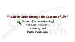 church retreat abide in christ through the seasons of life u201d session 2 saturday