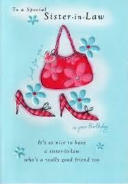 buy second nature sister in law birthday cards poetry in motion