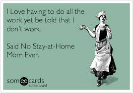 Stay At Home Mom Meme - i love having to do all the work yet be told that i don t work
