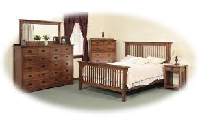 Mission Style Bedroom Furniture Cherry Queen Mission Style Frame Bed With Headboard U0026 Footboard Slat
