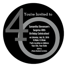 40th birthday invitations announcements zazzle au