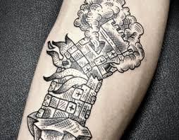 tower tattoo on behance