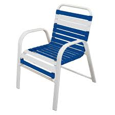 Blue Dining Chairs Marco Island White Commercial Grade Aluminum Patio Dining Chair