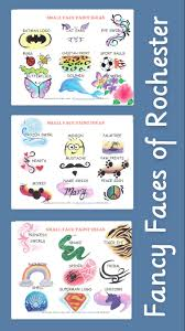 fancy faces of rochester new face painting menu for fast designs