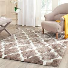 Shag Carpet Area Rugs Safavieh Barcelona Shag Bsg319b Silver White Area Rug 13 In Plush