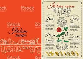 menu italian restaurant food template placemat stock vector art