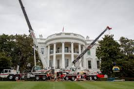White House Renovation Trump by Renovations Underway At The White House New York Post