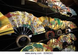 japanese fans for sale japanese fans in a shop kyoto japan asia stock photo royalty