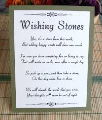 wishing rocks for wedding wishing stones sign customize for your event