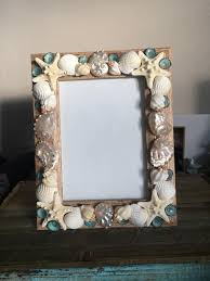 beach decor seashell picture frame shell picture frame shell