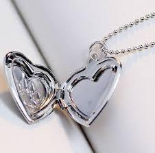heart dog necklace images Lovely keepsake heart dog paw photo frame locket necklace dogs jpg