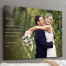 Wedding Sentiments Personalized Chromoluxe Photo Metal Panels Personalized Wedding