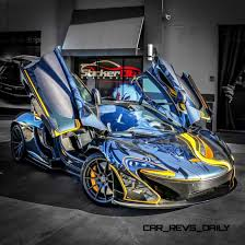 gold and black ferrari stickercity 2015 mclaren p1 black chrome art car