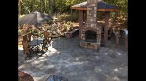atlanta landscape stone hardscape fireplace outdoor living project
